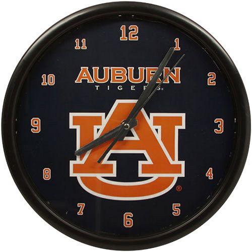 Auburn Tigers Black Rim Basic Clock