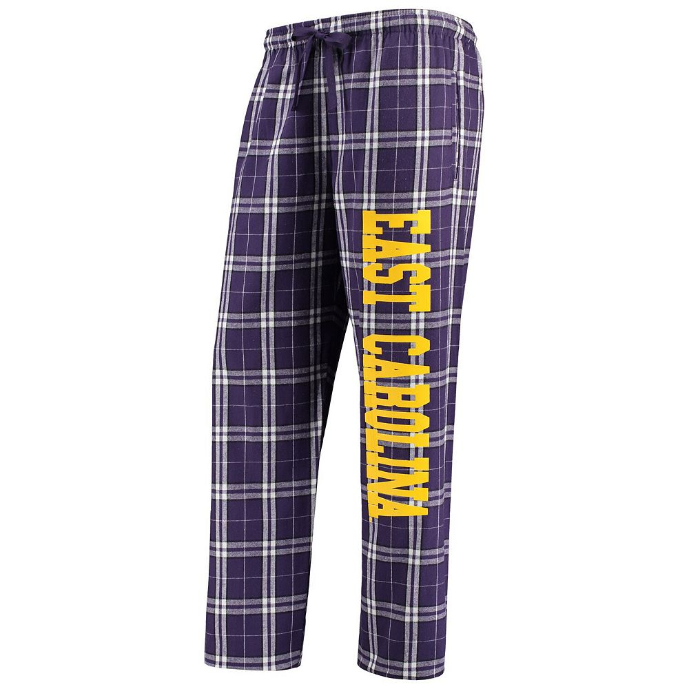 Women's Purple/White ECU Pirates Flannel Pajama Pants