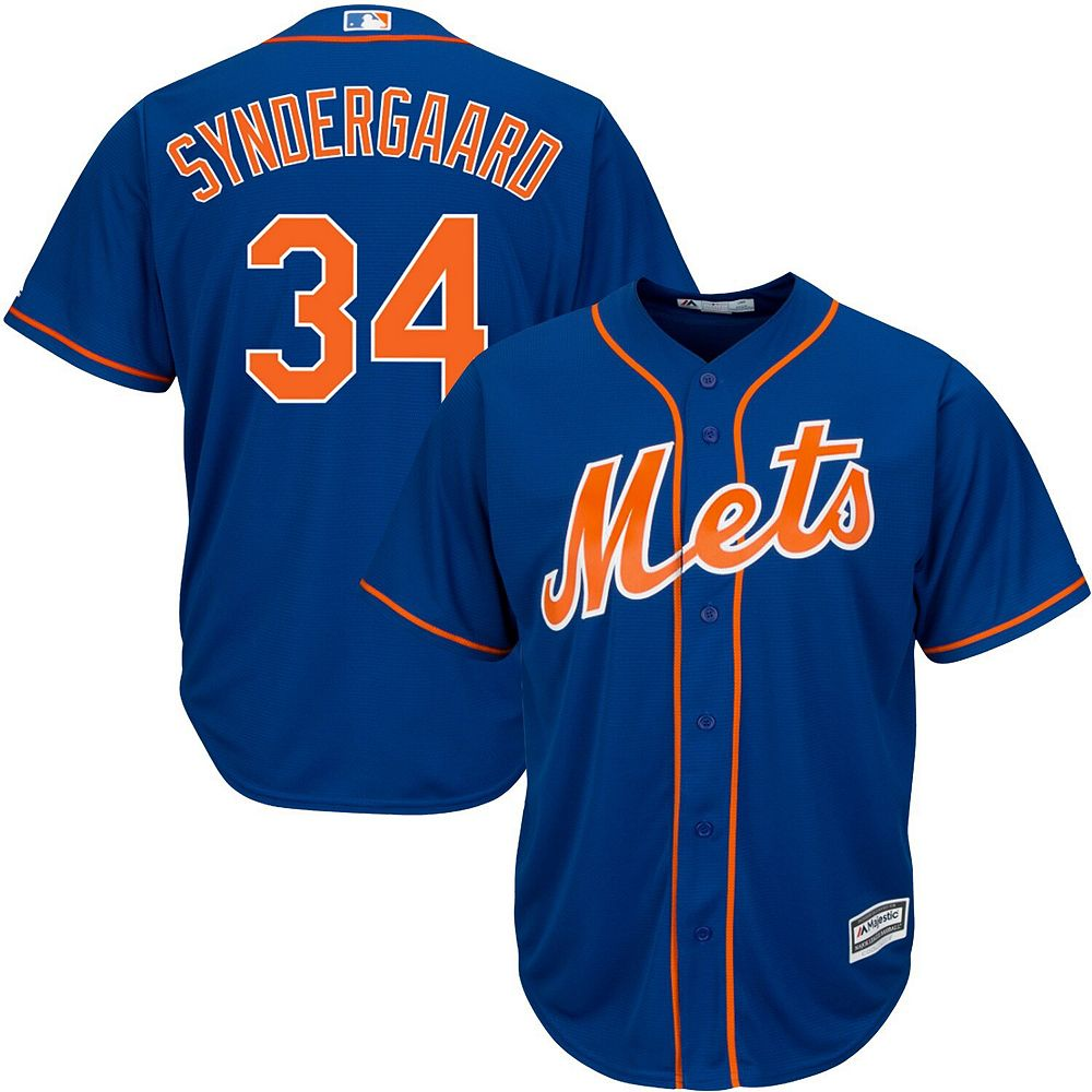 Men's Majestic Noah Syndergaard Royal New York Mets Official Cool Base Player Jersey