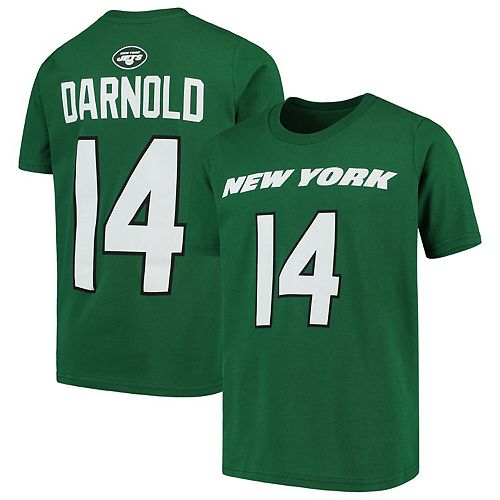 Sam Darnold New York Jets Youth Mainliner Name & Number T-Shirt - Green
