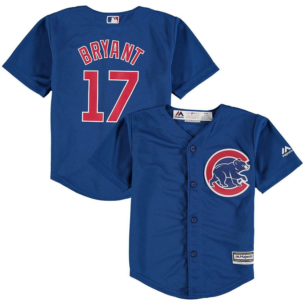 Toddler Majestic Kris Bryant Royal Chicago Cubs Official Cool Base Jersey