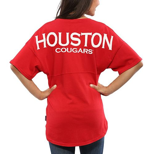 low priced 1f8e4 0c916 Women's Red Houston Cougars Oversized Spirit Jersey