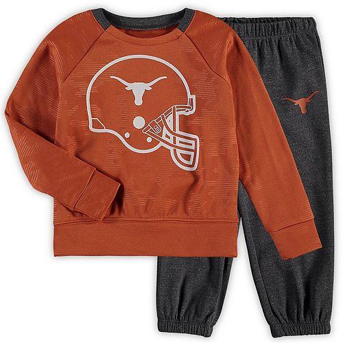 Toddler Texas Orange/Charcoal Texas Longhorns Teasley Sweatshirt and Pants Set