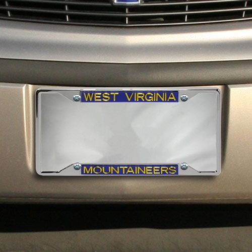 West Virginia Mountaineers Chrome License Plate Frame-