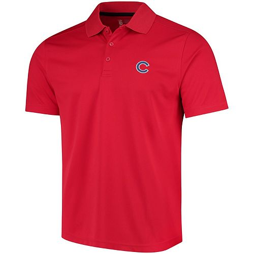 Men's CBUK by Cutter & Buck Red Chicago Cubs DryTec Fairwood Polo
