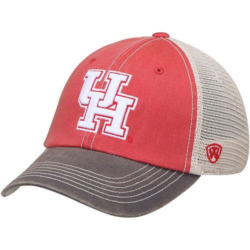 Men's Top of the World Red/White Houston Cougars Offroad Trucker Adjustable Hat