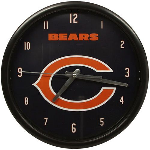 Chicago Bears Black Rim Basic Clock