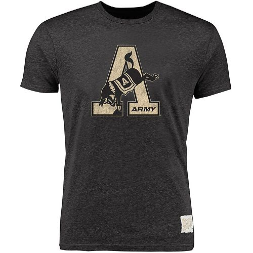 Men's Original Retro Brand Heather Black Army Black Knights Vintage A Tri-Blend T-Shirt