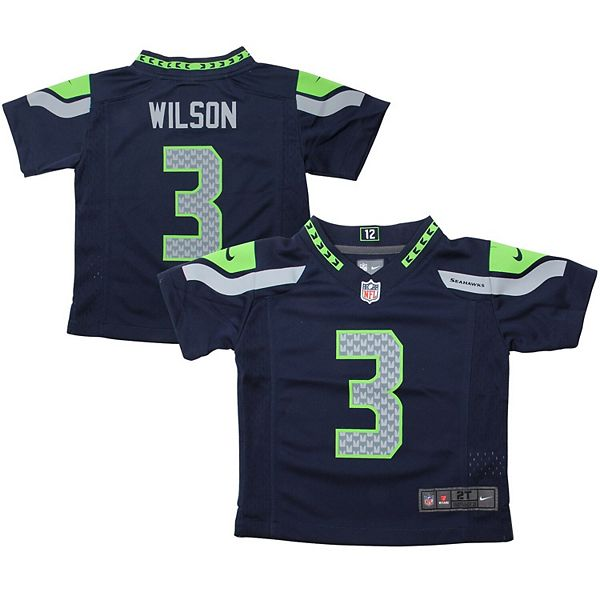 Nike Russell Wilson Seattle Seahawks Toddler Game Jersey - College Navy