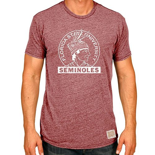 Men's Original Retro Brand Burgundy Florida State Seminoles Vintage Stamp Tri-Blend T-Shirt