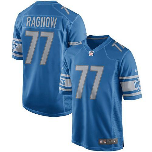Men's Nike Frank Ragnow Blue Detroit Lions Game Jersey