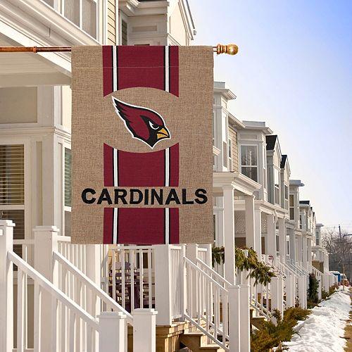 Arizona Cardinals Burlap Garden Flag