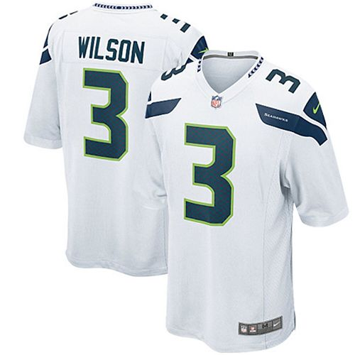 Youth Seattle Seahawks Russell Wilson Nike White Game Jersey