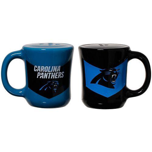 Carolina Panthers Chevron Salt & Pepper Shakers
