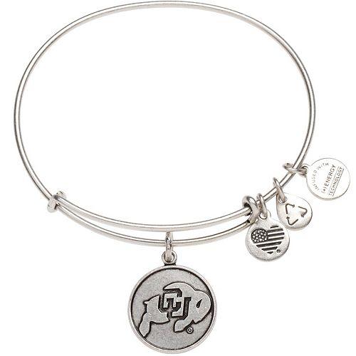 Women's Alex & Ani Silver Colorado Buffaloes Bracelet