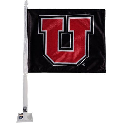 Utah Utes Car Flag - Black