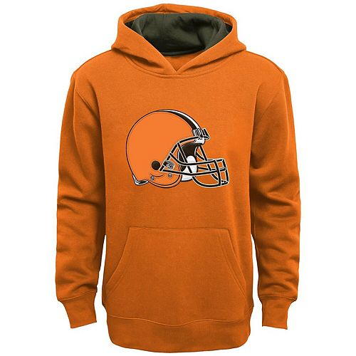 Youth Orange Cleveland Browns Fan Gear Prime Pullover Hoodie