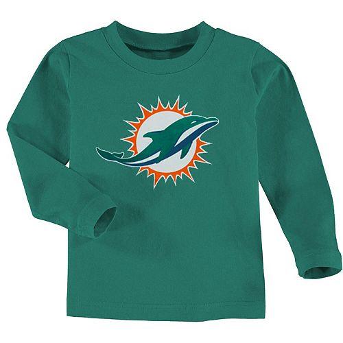Miami Dolphins Toddler Team Logo Long Sleeve T-Shirt - Aqua