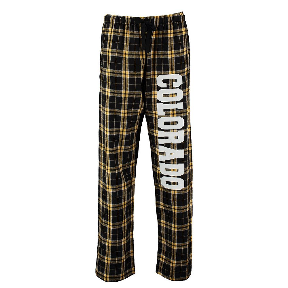 Women's Black Colorado Buffaloes Flannel Pajama Pants