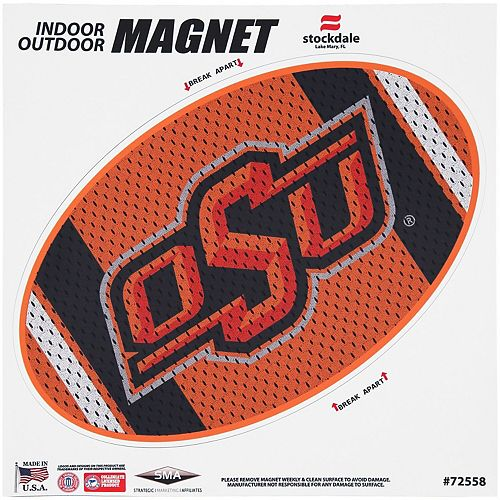 "Oklahoma State Cowboys Jersey 12"" x 12"" Oval Full Color Magnet"