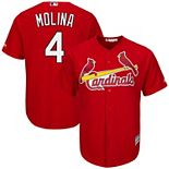 Men's Majestic Yadier Molina Scarlet St. Louis Cardinals Cool Base Player Jersey