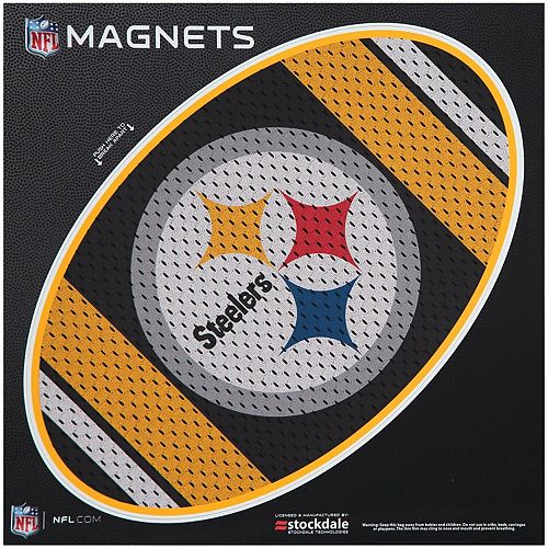 """Pittsburgh Steelers Jersey 12"""" x 12"""" Oval Full Color Magnet"""