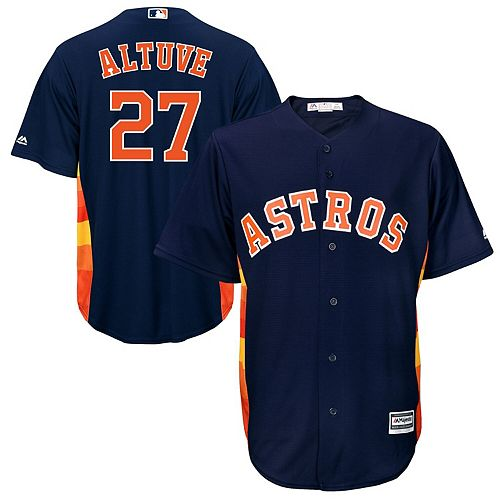 Men's Majestic Jose Altuve Navy Houston Astros Official Cool Base Player Jersey