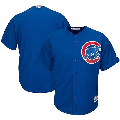 Men's Majestic Royal Chicago Cubs Official Cool Base Jersey