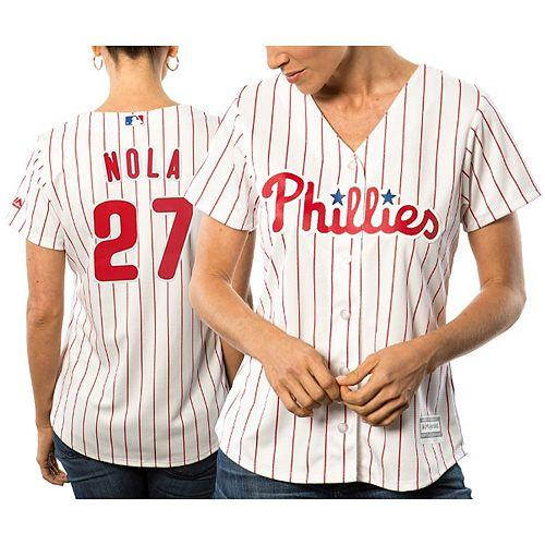 Women's Majestic Aaron Nola White Philadelphia Phillies Cool Base Player Jersey