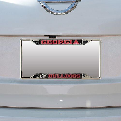 Georgia Bulldogs Small Over Small Mega License Plate Frame