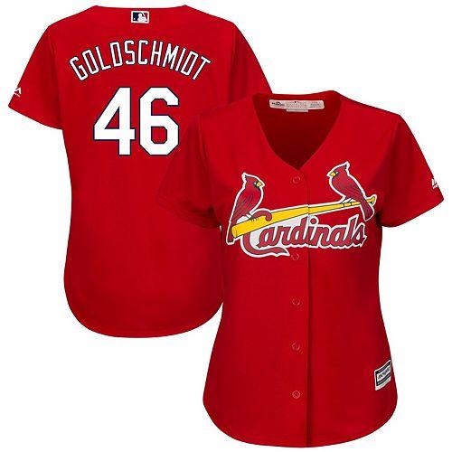Women's Majestic Paul Goldschmidt Scarlet St. Louis Cardinals Alternate Official Cool Base Player Jersey