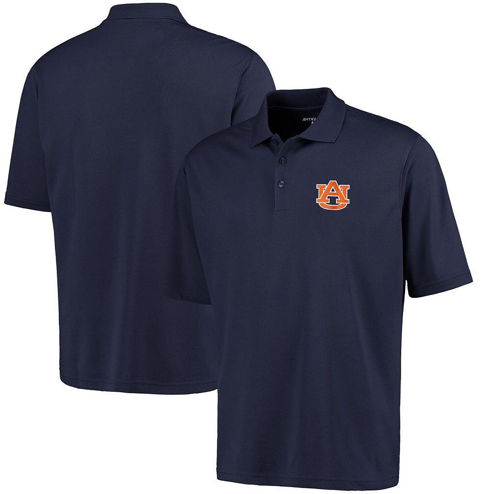 Mens Auburn Tigers Antigua Navy Blue Logo Grande Pique Polo