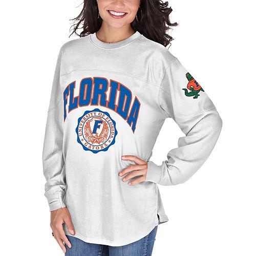 Women's White Florida Gators Edith Long Sleeve T-Shirt