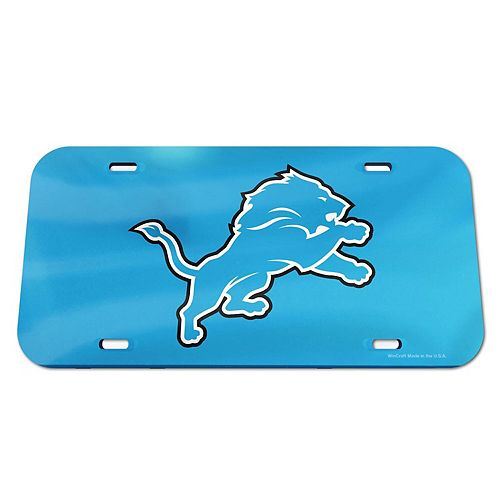 WinCraft Detroit Lions Logo Crystal Mirror License Plate