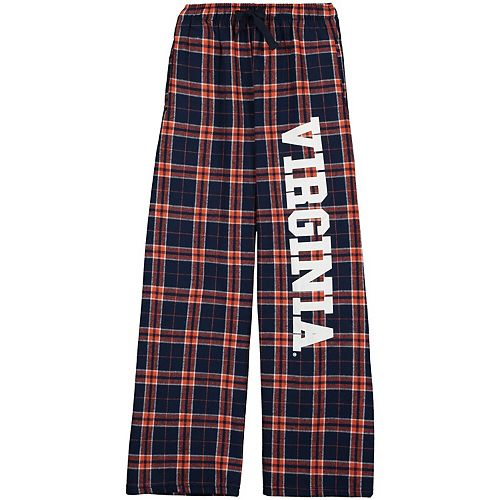 Youth Navy Virginia Cavaliers Plaid Flannel Pants