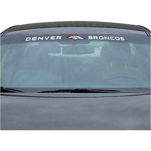"""Denver Broncos 34"""" Vinyl-Coated Windshield Decal"""