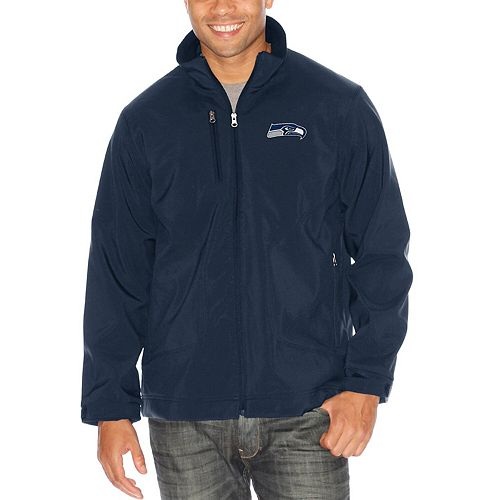 Men's G-III Sports by Carl Banks Navy Seattle Seahawks Strong Side Soft Shell Jacket