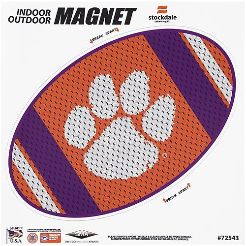 """Clemson Tigers Jersey 12"""" x 12"""" Oval Full Color Magnet"""