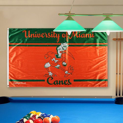 WinCraft Miami Hurricanes College Vault Logo Deluxe Single-Sided 3' x 5' Flag