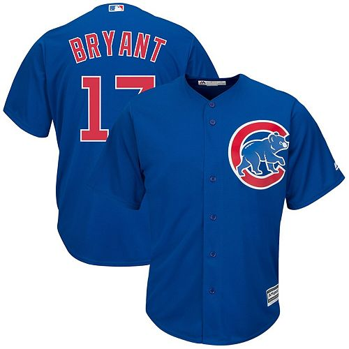 Men's Majestic Kris Bryant Royal Chicago Cubs Big & Tall Alternate Cool Base Replica Player Jersey
