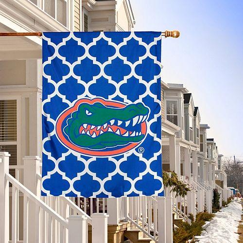 "Florida Gators Double-Sided 28"" x 40"" Quatrefoil Fashion House Flag"