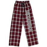 Youth Crimson Oklahoma Sooners Plaid Flannel Pants