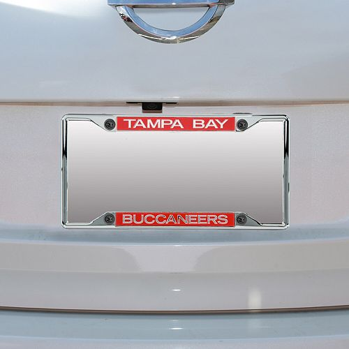 Tampa Bay Buccaneers Metal Frame Acrylic Inlaid Mirror License Plate Frame