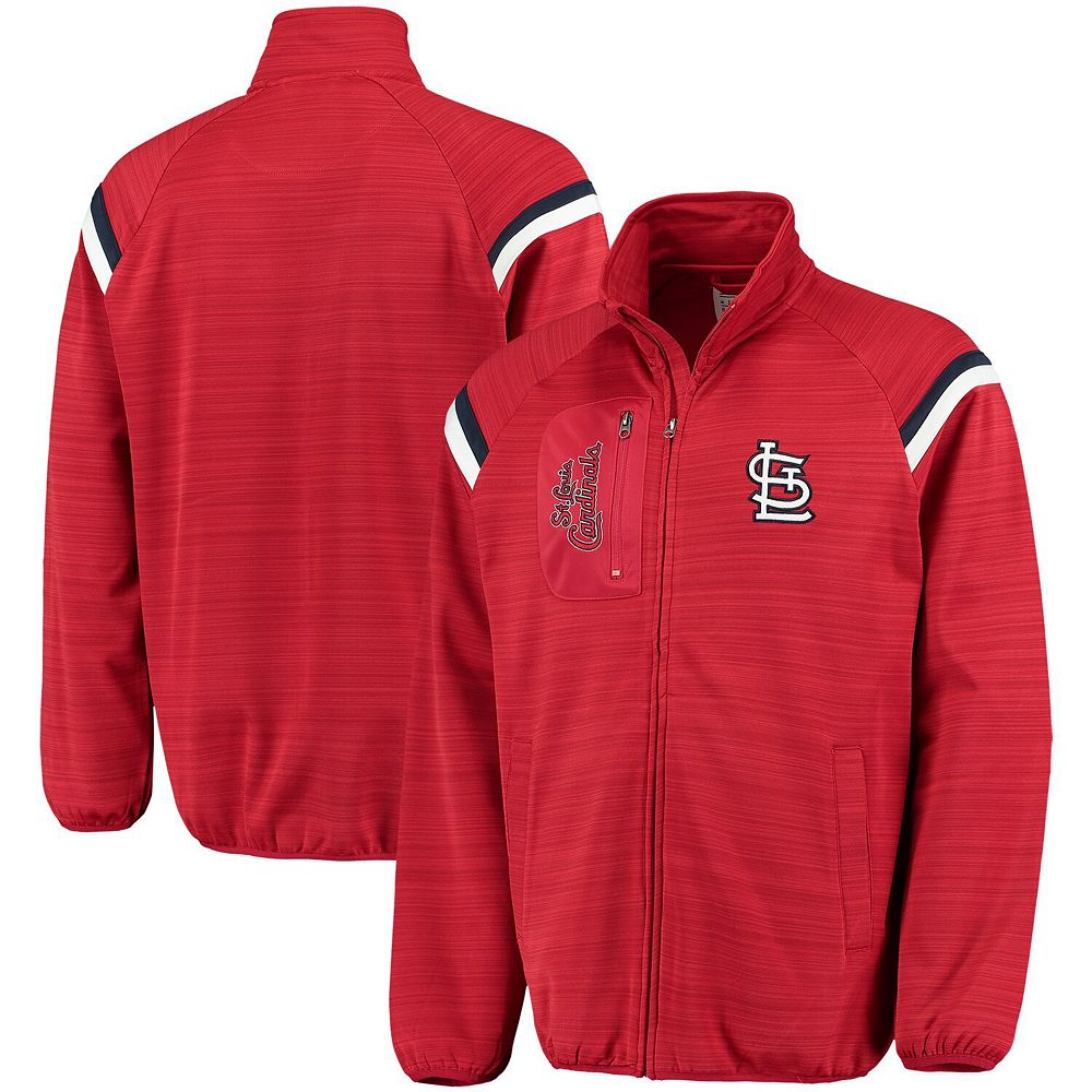 Men's G-III Sports by Carl Banks Red St. Louis Cardinals Wild Card Full-Zip Track Jacket