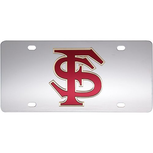 Florida State Seminoles Stainless Steel Laser-Cut Acrylic License Plate