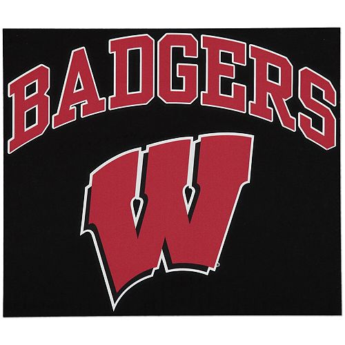 "Wisconsin Badgers 12"" x 12"" Arched Logo Decal"