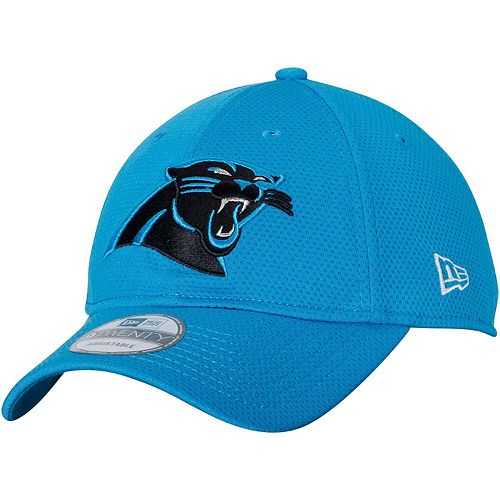 Men's New Era Blue Carolina Panthers Perf Shore Training Mesh 9TWENTY Adjustable Hat