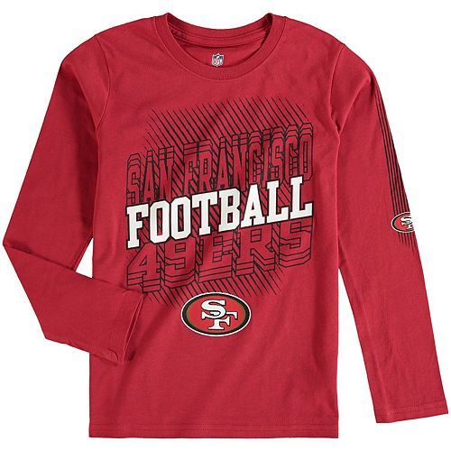 Youth Scarlet San Francisco 49ers Frequency Long Sleeve T-Shirt