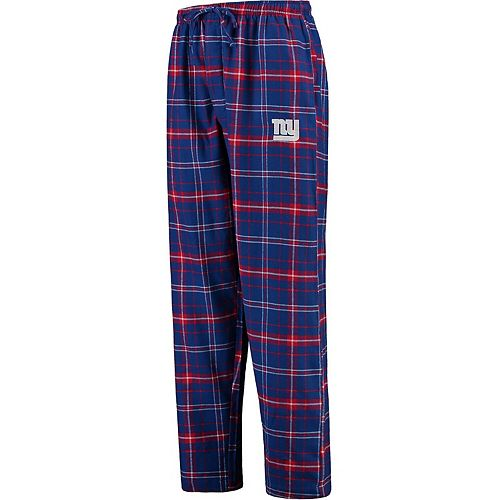 Men's Concepts Sport Royal New York Giants Ultimate Plaid Flannel Pajama Pants