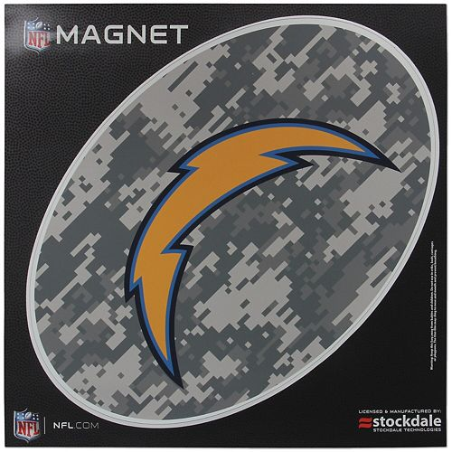 Los Angeles Chargers 12 x 12 Digi Camo Oval Magnet